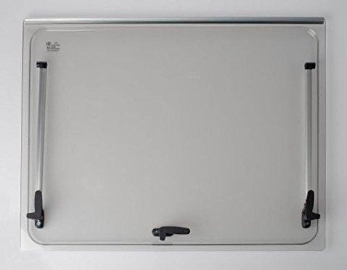 Ersatzglas 718x332 für Fenster Seitz 750x400 + Zubehör: Caravan Wohnmobil - Farbe: Grau