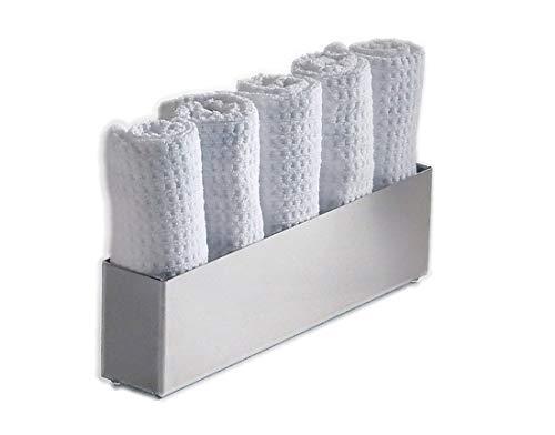Gästetuchhalter Tischgästetuchhalter Handtuchhalter Edelstahl hochglänzend poliert. Made in Germany