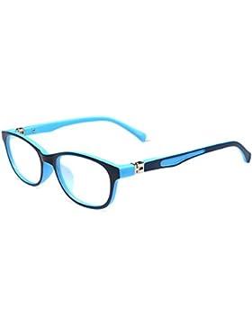 Gafas para niños - TR90 Ultralight - Gafas de lentes transparentes marco Geek / Nerd gafas con forma de coche...