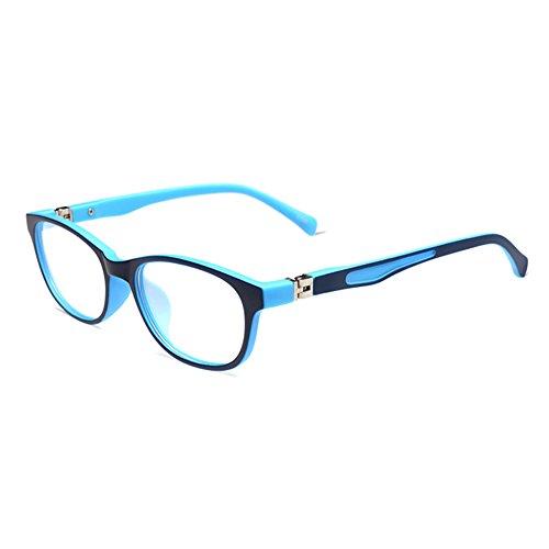 Hibote Hibote Mädchen Junge Brillen - TR90 Ultraleicht Clear Lens Glasses Frame Geek/Nerd Brillen mit Car Shape Gläser Fall