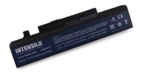 INTENSILO Li-Ion Akku 6000mAh (10.8V) für Notebook Laptop Lenovo IdeaPad Y460P-ITH, Y560, Y560A, Y560A-IFH wie L09N6D16, L08S6DB, 57Y6440, u.a. - Y560-akku