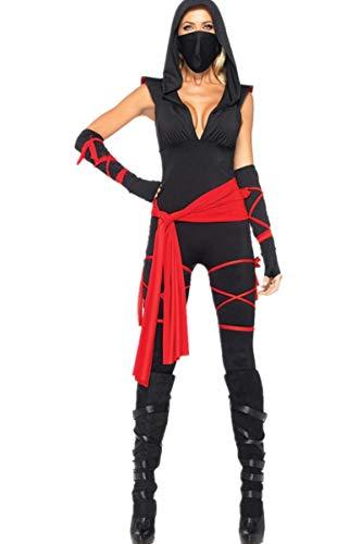 LCXYYY Halloween Tödliches Ninja Damen Kostüm Cosplay Karneval Fasching Costumes Jungen Verkleidung Kinder Outfit Halloween Jumpsuit Ohne ()