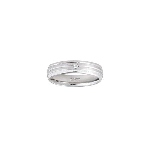 Ring 58 - Edelstahl Zirkonia - silber
