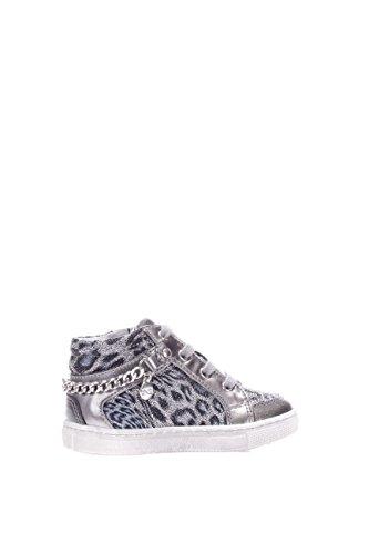 Nero Giardini Junior Mädchen Sneaker Hohe a621700F-700Sneaker High Silber / Schwarz