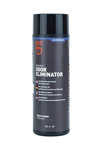 MiraZyme Odor Eliminator Geruchsentferner für chemische Entfernung von Duft, Gestank, Geruch, Moder von Textilien Sportbekleidung Taucheranzug Neopren Tauchen Zelt 250ml Geruchsvernichter -