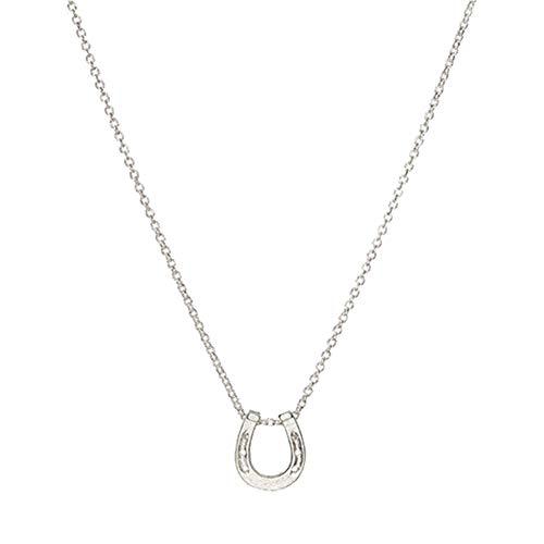 Meigold Persönlichkeit Halskette Lucky Hufeisen Legierung Schlüsselbein Kurze Halskette Mädchen und Dame Schmuck 1 STÜCKE
