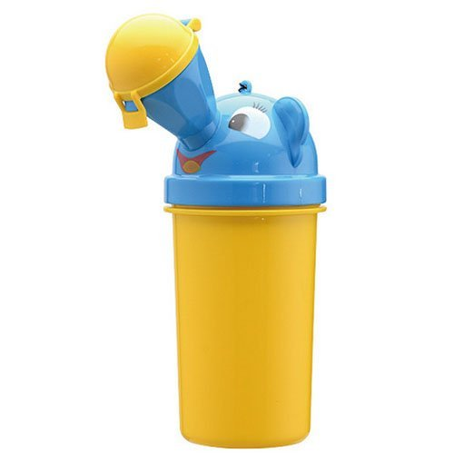 Portable Baby Child Potty Urinal Boy Toddler Potty Training for Camping Car Travel Girl Travel Potty Urinal Training Toilet (Yellow for boy) by Toobaobao