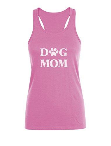 Green Turtle T-Shirts Dog Mom - Maman Fan de Chien Débardeur Femme Rose