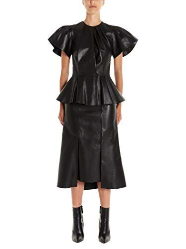 Alexander Mcqueen Handtaschen (Alexander McQueen Damen 585015Q5aa11000 Schwarz Leder Kleid)