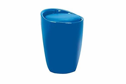 Galileo Casa 2422508 Pouff Boîte, ABS, Bleu, 37 x 37 x 45.5 cm