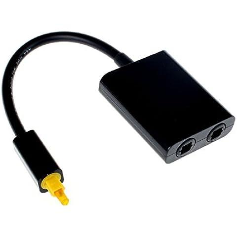 Malloom® Audio cavo in fibra ottica digitale in fibra ottica 1-2 adattatore del divisore - Divisori Di Fibra Divisori