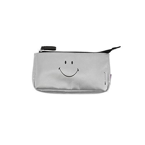 Incidence Paris Trousse Maquillage Smiley, 20 cm, Argent/Metallic