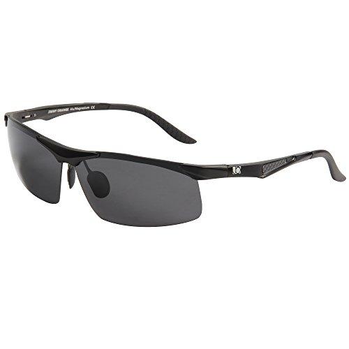 Jimmy Orange Aluminium Magnesium Polarisierte Sonnenbrille Radfahren Herren Outdoor fahren Sonnenbrille Frauen hohe Qualität jo671, Schwarz, JO671