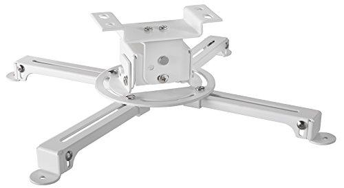 celexon Beamer-Deckenhalterung Multicel 1000 Pro weiß | Einfache Installation | Neigbare Projektor-Halterung, z.B. Acer, Epson, Benq, LG, Optoma, Sony