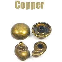 Sepikey Kupfer Vollniet 40 St/ück Rundschaft Kupfer Vollnieten Verbindungselemente Hardware Hardware 3mm x 8mm