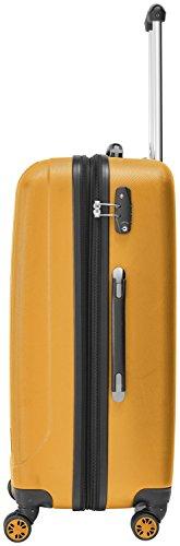 Packenger Velvet Koffer, Trolley, Hartschale 3er-Set in Orange, Größe M, L und XL - 3