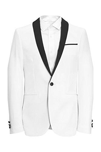 next Veste de smoking skinny Coupe Skinny Homme Blanc