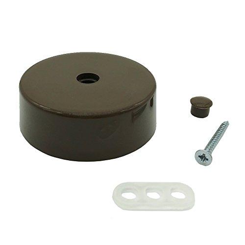 Verteilerdose braun Kunststoff mit Zubehör ø 74x25mm Verteilerbaldachin Aufputzdose Anschlussdose