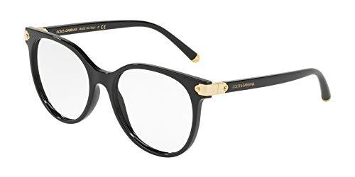 Dolce & Gabbana Damen Brillengestelle DG5032, Schwarz (Black), 51