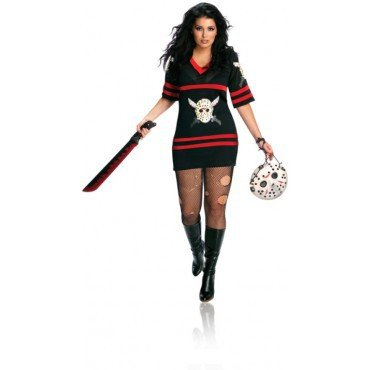 sexy Miss Voorhees 'Freitag der 13te' Kostüm für Damen Gr. XL, Größe:XL (Miss Jason Voorhees Kostüm)