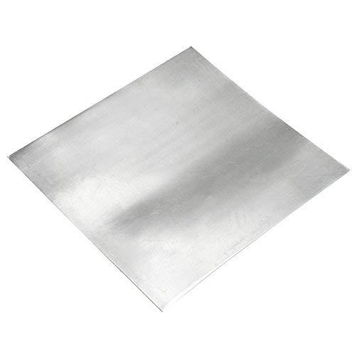 ChenXi Shop ZN Blech-Platte, 0,3 x 50 x 50 mm, reines Zink, 10 Stück, 0.3mmx100mmx100mm X2, 2
