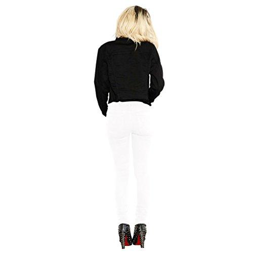 YuanDian Donna Autunno Inverno Casual Benda Skinny Jeans Pantaloni Vita Alta Push Up Slim Fit Elegante Pantaloni Leggings Bianco