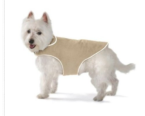 Dog Gone Smart Pet Products dgswjs04 Dog Gone Smart Jacke mit ecru Paspel für dogs- Größe S 10 'khaki