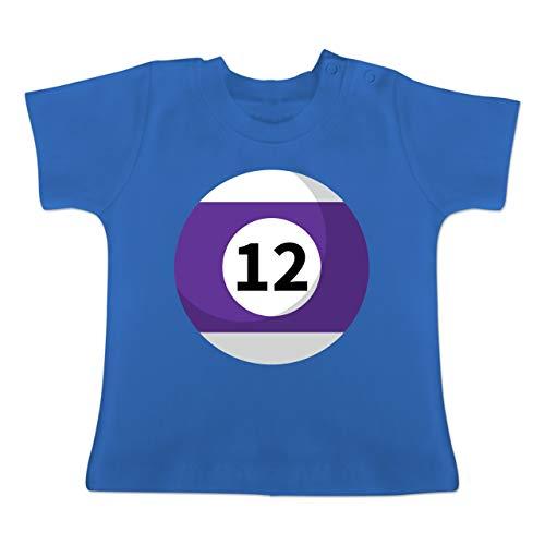 g Baby - Billardkugel 12 Kostüm - 1-3 Monate - Royalblau - BZ02 - Baby T-Shirt Kurzarm ()