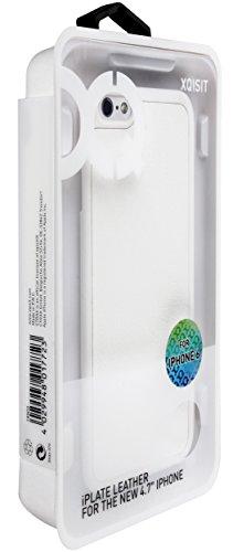 Xqisit Apple iPlate Étui en cuir blanc