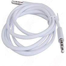 High Value White 3.5mm AUX Stereo Male to Male Audio Cable Cord Adapter For Apple iPad4 Ipad Air Ipad mini iPhone 6/6+, 5/5s, 5C, Ipod Samsung S5,S4,S3, All Genreations Mp3 Mp4 Players Sony Creative Samsung, HTC, Motorla , All Laptop Pc And ard 3.5Mm Jack Plug