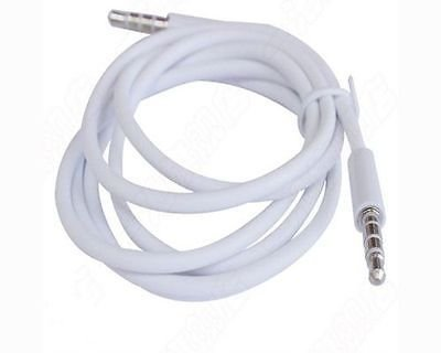 Brilliant Quality White 3.5mm AUX Stereo Male to Male Audio