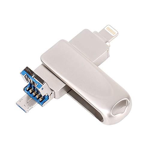 Photo Stick-Flash-Laufwerk 3-in-1-Laufwerk USB-Speicherstick (Typ C) Externer Speicher Flash-Laufwerk U Festplatte Kompatibel für iPhone, Ipad, Ipod, Mac, Ios Phone,8GB