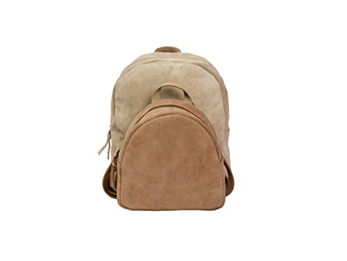 Paint Genuine Beige & Peach Suede 2 in 1 Back-pack
