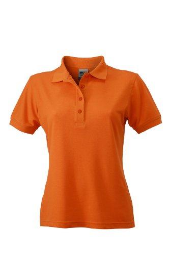 James & Nicholson Damen Poloshirt Ladies Workwear Large Orange