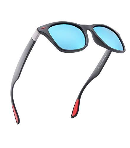 Sonnenbrillen Herren,Polarisierte Sonnenbrille Blau, Elegant und Langlebig 100% UV-Schutz Sonnenbrillen für Männer