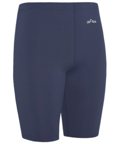 emFraa Sports Men's Women's Navy Spandex Compression Base Layer Running Shorts S ~ 2XL