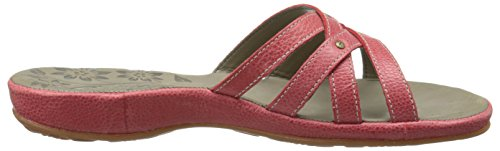Keen City of Palms Slide Cuir Sandale Ribbon Red