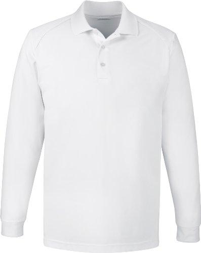 Extreme Herren Haken Schutz Lange Ärmel Polo Shirt. 85111 WHITE 701