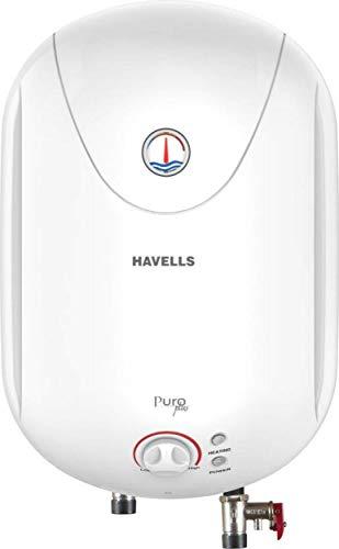Havells Puro Plus 5S 10-Litre Storage Heater (White)