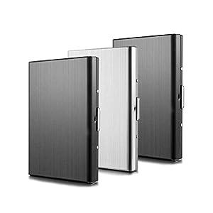 Kreditkartenetui TBoonor 3 Stück Kartenetui aus Aluminium RFID Schutz Kreditkartenetui 6 Fächer für Kreditkartenhülle…