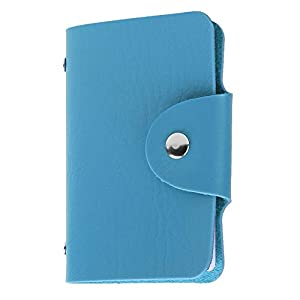 Kraptick Leather Credit Card Holder/Business Card Holder/ATM Card Holder for Women Men- 24 Card Slots