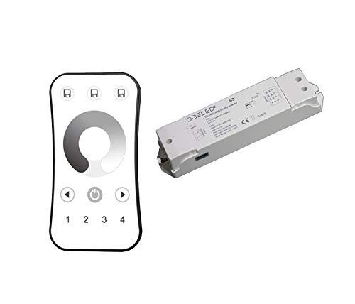 Dimmer und Fernbedienung | Für Ogeled 230V LED Streifen | Ein S3 Dimmer & eine 4 Zonen Fernbedienung
