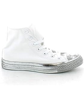 Converse - 156769C CT AS HI Canvas Color Rubber, sneakers unisex, White/Silver