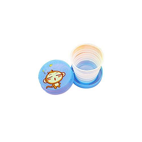 YaptheS 2ST Faltbare Cup Multicolor Kunststoff zusammenklappbare Unbreakable Magic Becher Tassen Glas für Reisen Im Freien Wandern - Unbreakable Gläsern