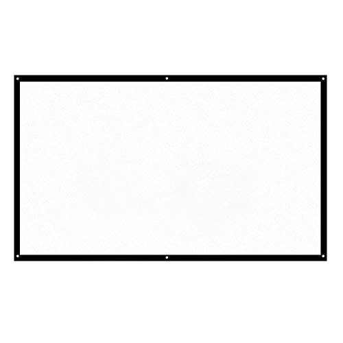 H-ONG H70 70'''' Portable Projector Screen,HD 16:9 White Dacron 70 Inch,Diagonal Projection Screen Foldable Home Theater for Wall Projection Indoors Outdoors - 70 Home Theater
