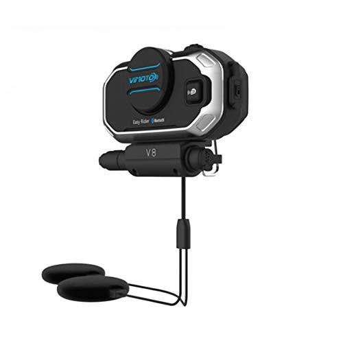Y&Jack V8 Motorrad Bluetooth Intercom Headset Helm Bluetooth wasserdichte Sport Headset 13 Stunden Standby-Zeit Große Taste Pressure Sensing Design Ge-intercom-system