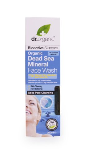 Dr. Organic Minéraux Organiques de Mer Morte Lavage de Visage 200 ml
