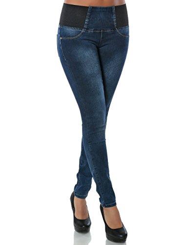 Damen Jeans Skinny (Hochschnitt Röhre) No 14198, Farbe:Blau;Größe:40 / L