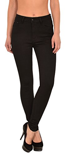 by-tex Damen High Waist Jeans Hose Damen Jeanshose Skinny Hochbund Hose bis Übergröße 48, 50, 52,54 # S200 (Jeans Size Elasthan Plus)