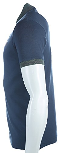 La Martina Herren Poloshirt Man Polo S/S Piquet Stretch Blau